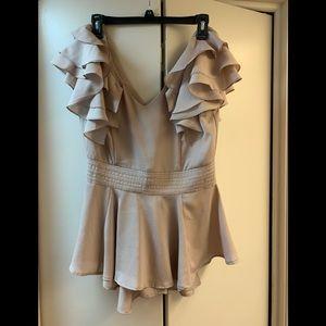 Double Zero silk look ( polyester) top